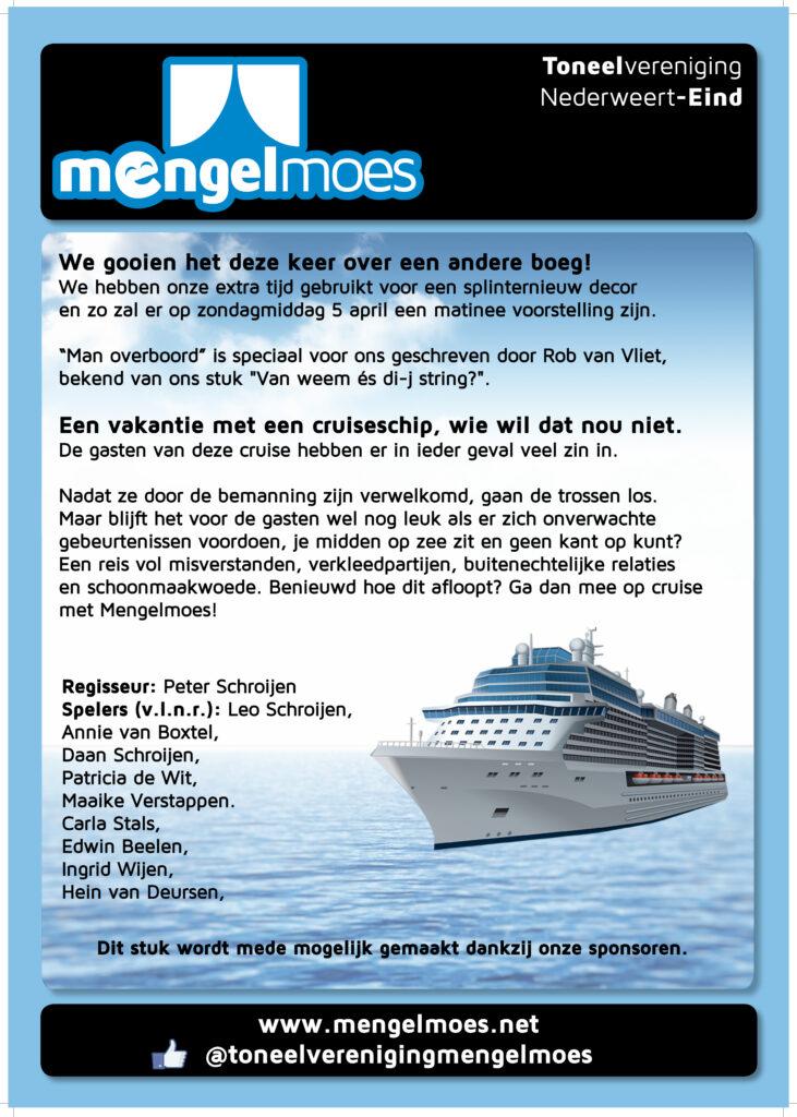 FLyer Toneelvereniging Mengelmoes Man Overboord